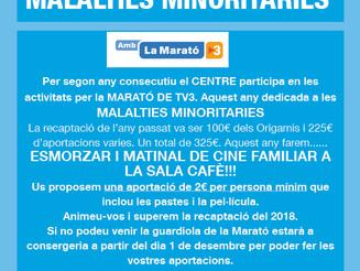El Centre amb La Marató de TV3