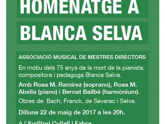 Concert homenatge a Blanca Selva