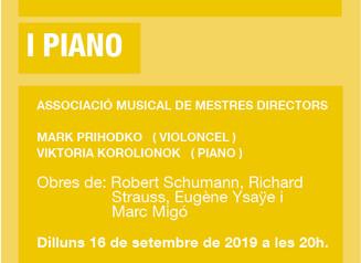 Concert de violoncel i piano