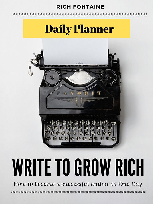 Write to Grow Rich Planner