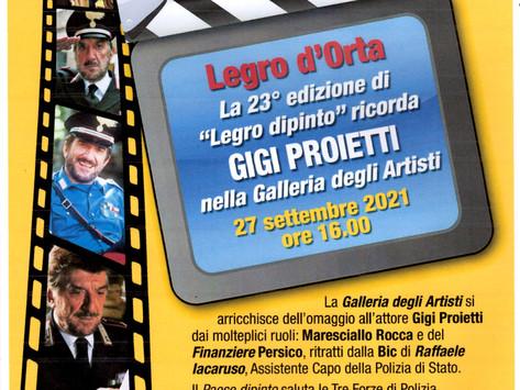 Omaggio a Gigi Proietti.  Opera di  Raffaele Iacaruso. Lunedì 27 Settembre, ore 16.00, Legro.