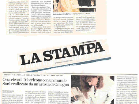 Il comune di Stresa a Legro finanzia un mosaico in Omaggio a Valentina Cortese