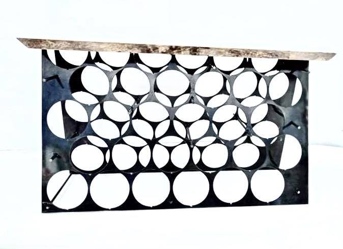 cave à vins acier bois 974