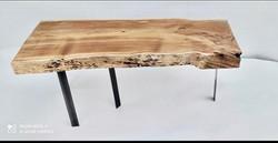 console meuble tv acier bois 974
