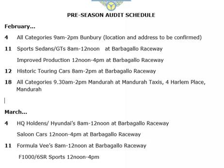 2017 pre-season WASCC Audit