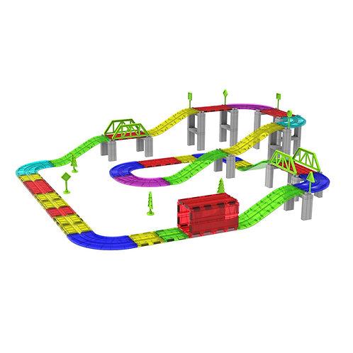 Preschool Educational Magnetic Tiles Building Set Gift for Kids 3+ Years Old