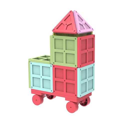 Magnet Tiles Blocks Hard Shiny Color 3D Brain Building Blocks For Children