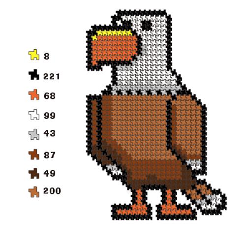 Click Puzzle 775 Pieces Eagle Puzzles for Adults/Children Plastic Click Puzzles