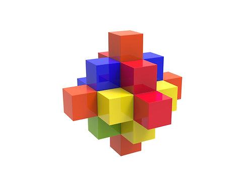 Magnetic Building Block Set Toy (Girl-Boy Educational STEM Gift