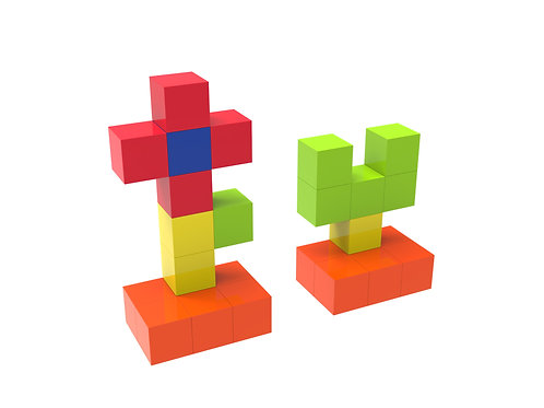 Stronger Magnets Sturdy Super Durable with Vivid Clear Color cubes