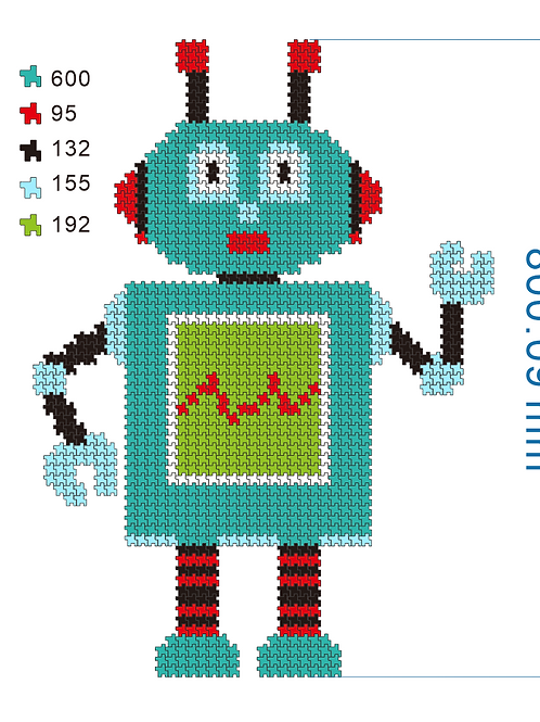 Click Puzzles 1000+ Pieces Robot Puzzles for Adults Plastic Click Puzzles