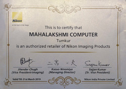 Nikon Certificate