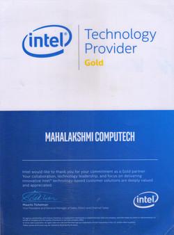 Intel Certificate