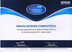 Epson Certificate