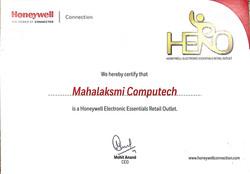 Honeywell certificate