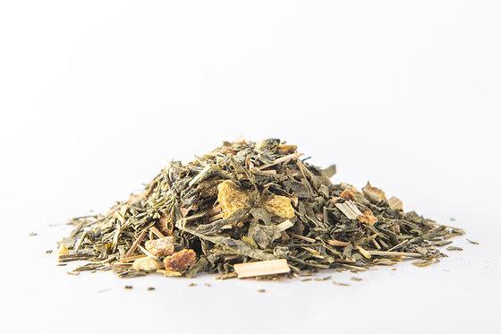 الشاي الأخضر بالزنجبيل والليمون العضوي