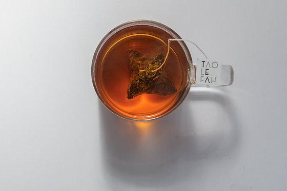 أكياس الشاي الأسود العضوي بالنعناع