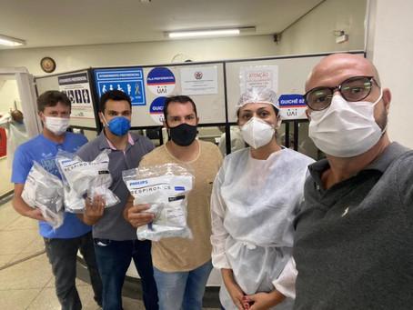 Juntos por Uberlândia repassa aparelhos de ventilação não invasiva para rede pública de saúde