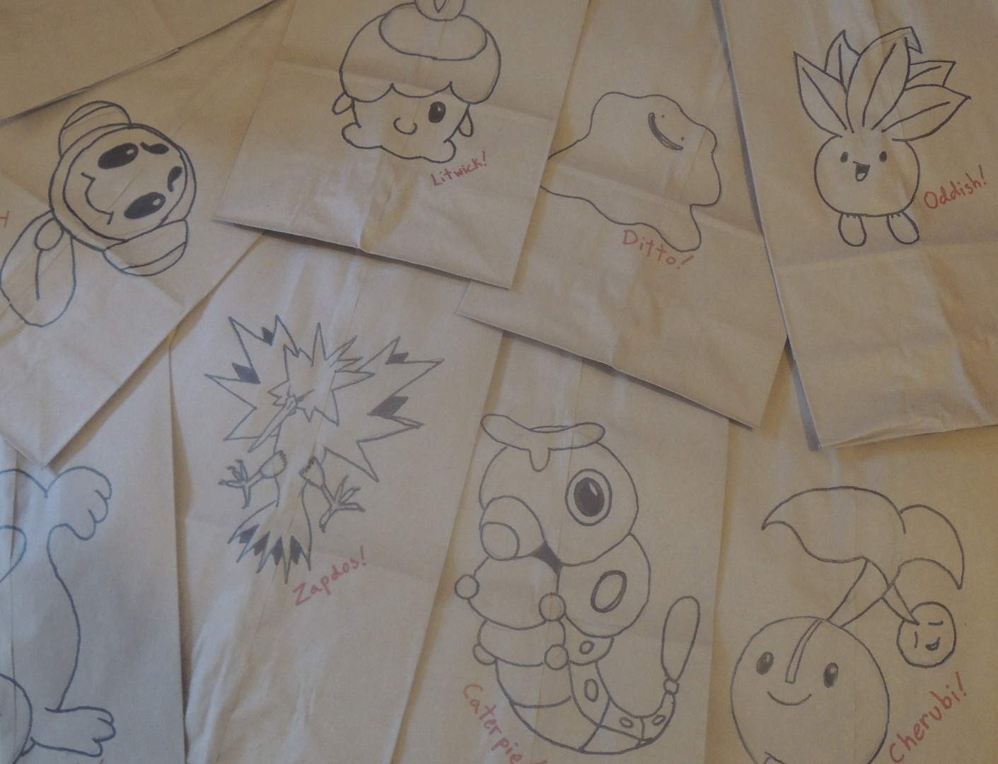 Pokemon Lunch Bags