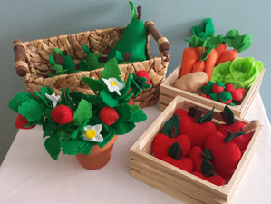 Felt Food: Fruits and Vegetables!