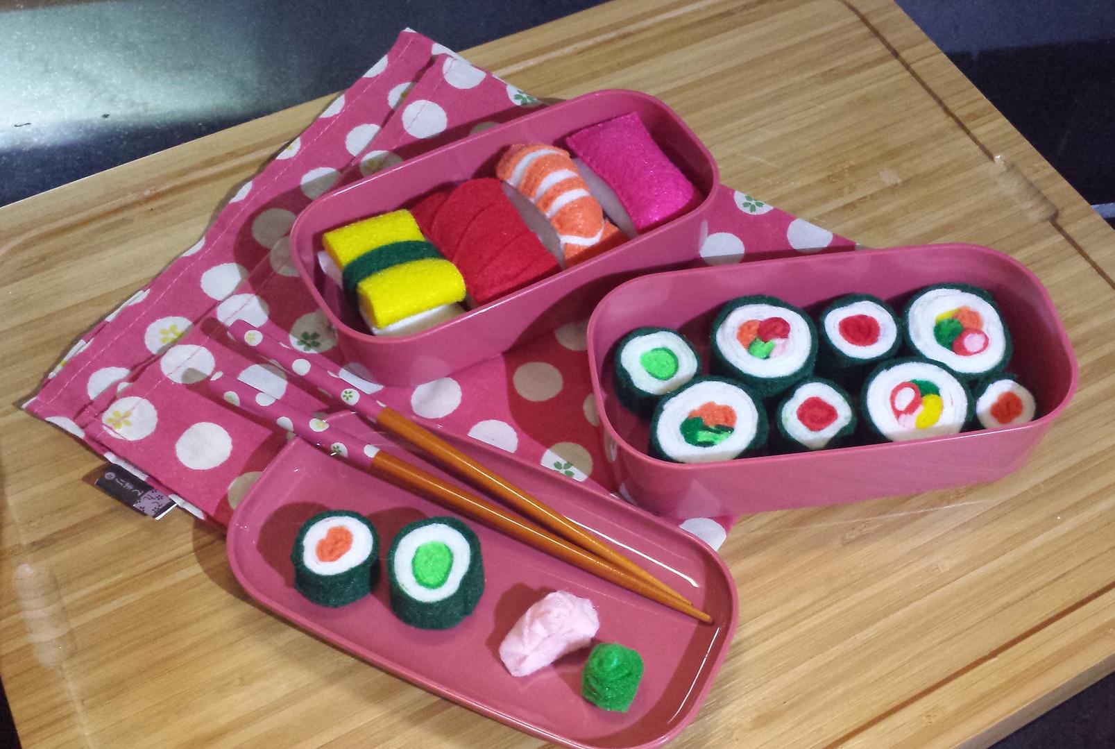 Felt Sushi Bento