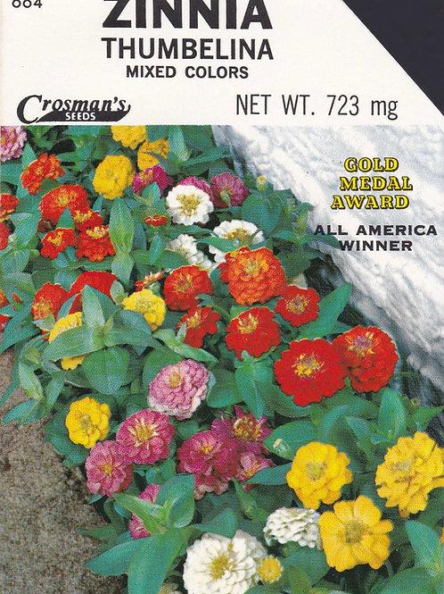 Zinnia Thumbelina Mixed Colors