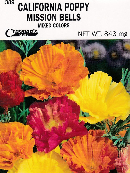 California Poppy Mission Bells Mixed Colors
