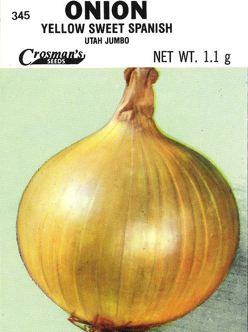 Onion Yellow Sweet Spanish Utah
