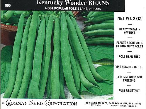 Bean Kentucky Wonder Pole