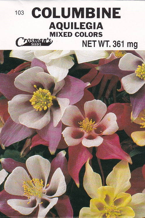 Columbine Aquilegia Mixed Colors