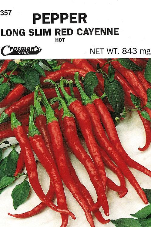 Pepper Long Slim Red Cayenne