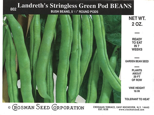 Bean Landreth's Stringless Green