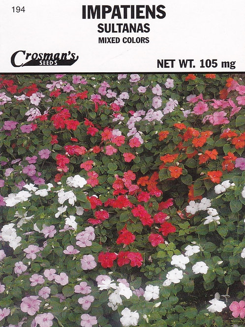 Impatiens: Sultanas Mixed Colors