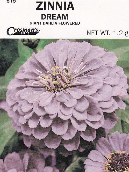 Zinnia Dream Giant Dahlia Flowered