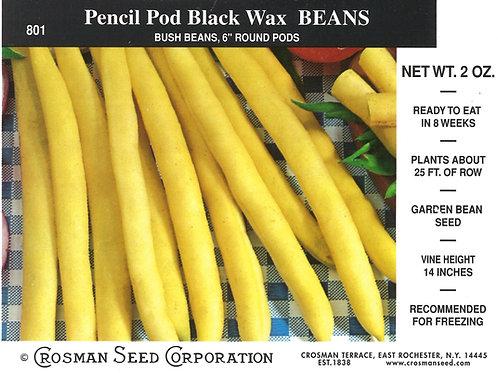 Bean Pencil Pod Black Wax