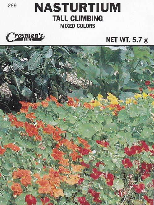 Nasturtium Tall Climbing Mixed Colors