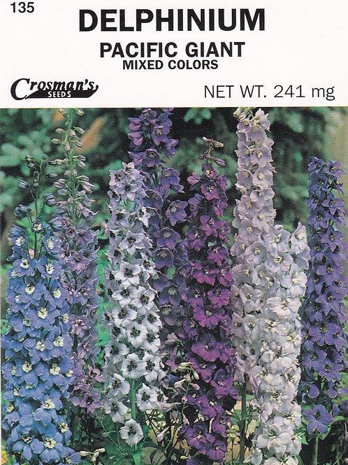 Delphinium: Pacific Giant Mixed Colors