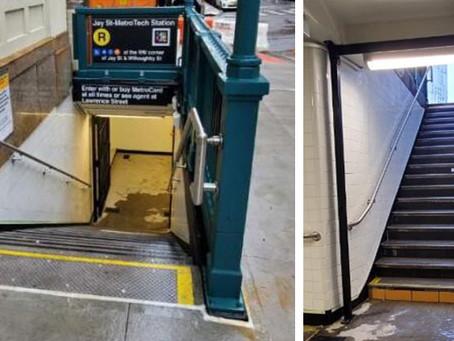 Bridge Street Subway Entrance Stairs in Brooklyn is Complete!