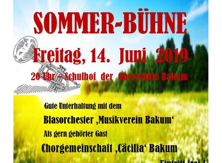 Sommerbühne                             geht in die 6. Auflage