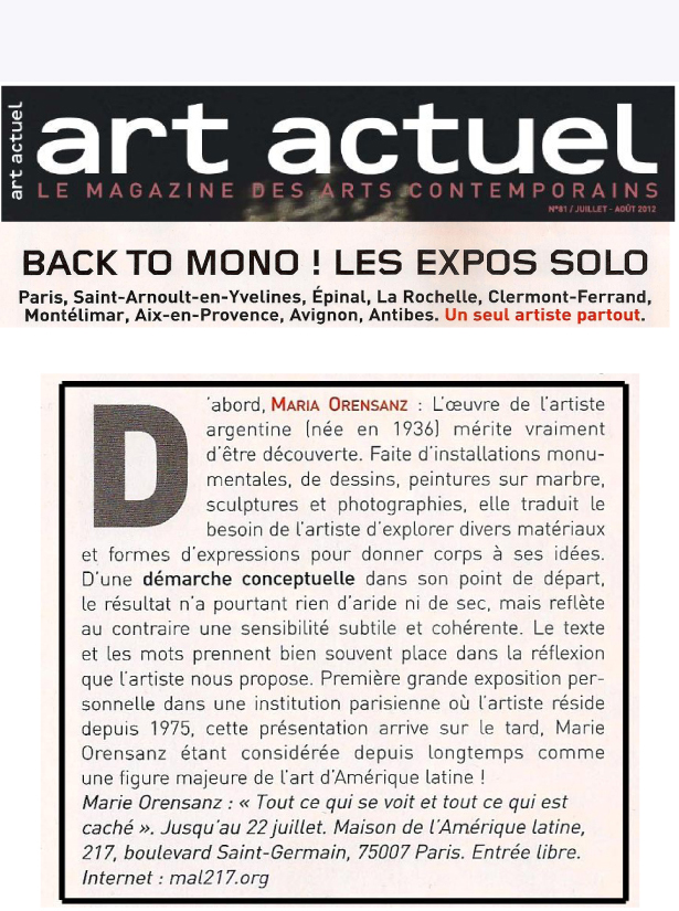 Art Actuel - France