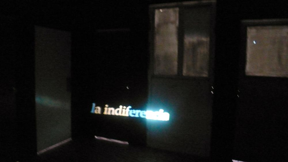 La Indiferencia - instalacion