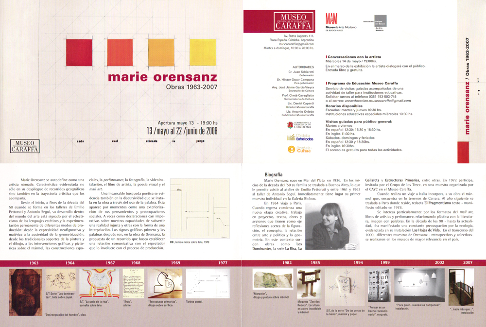 Obras de 1963 a 2007 Museo Caraffa