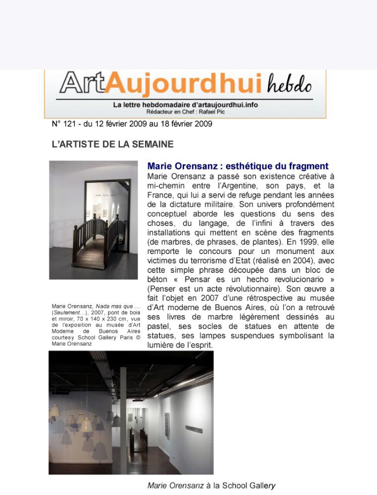 Art Aujourd'hui Hebdo - France
