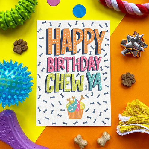 100% Edible Birthday card for dogs!