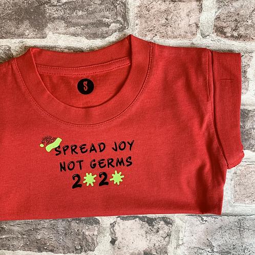 Spread Joy not Germs - Dog T-Shirt