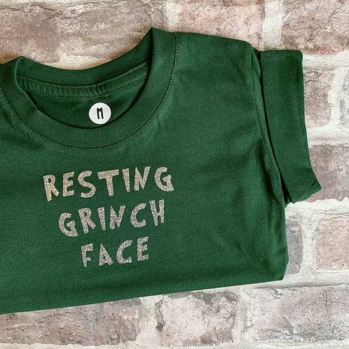 Resting Grinch Face - Dog T-Shirt