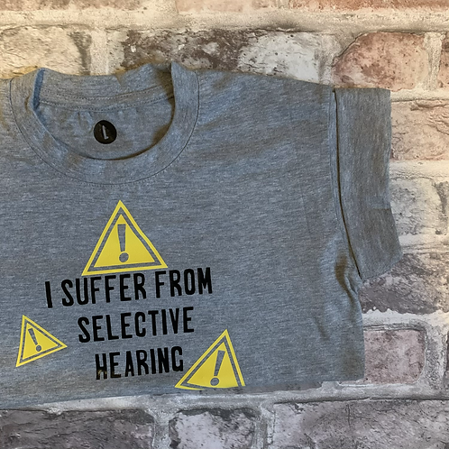 Warning: Selective Hearing - Dog Tee