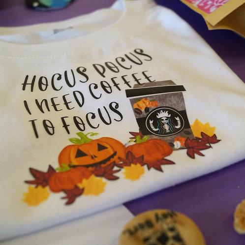 Hocus Pocus I need coffee to focus - Dog tee