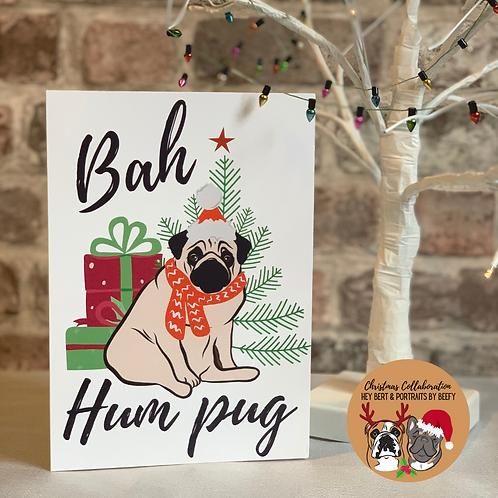 Bah Hum-pug Christmas Card