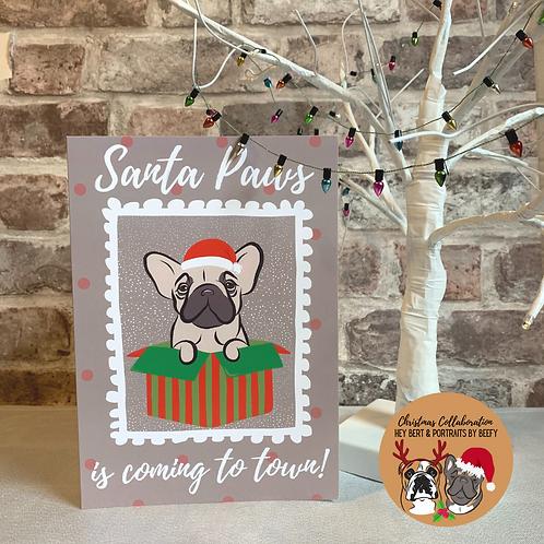 Santa Paws Christmas Card